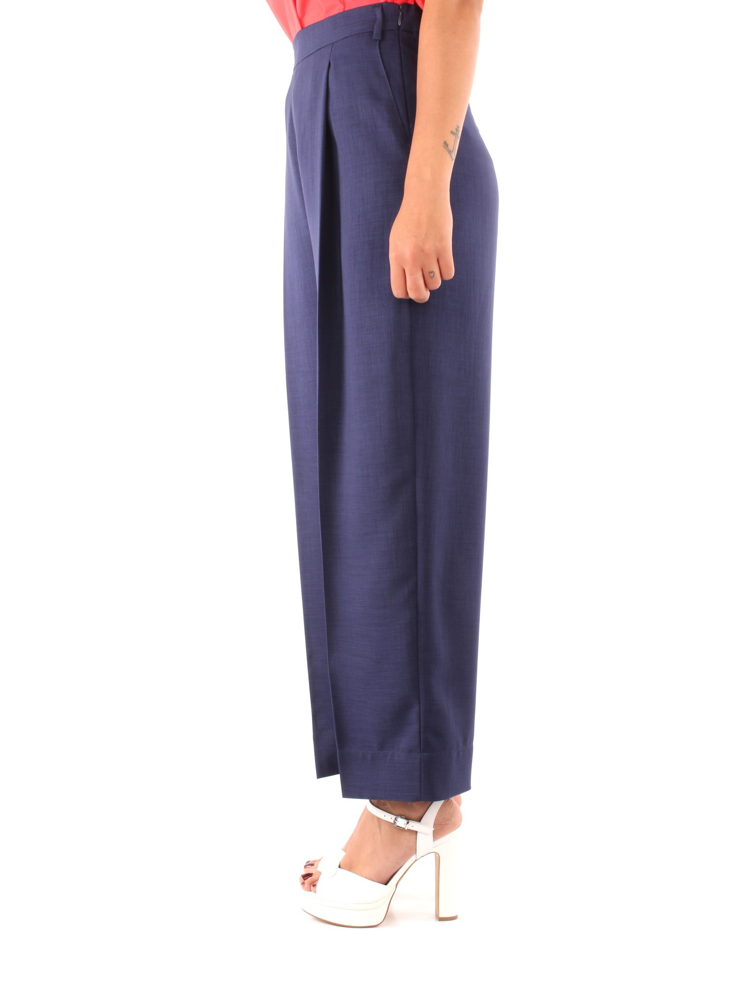 Niu' Clothing Woman Chino BLUE PE19201T83