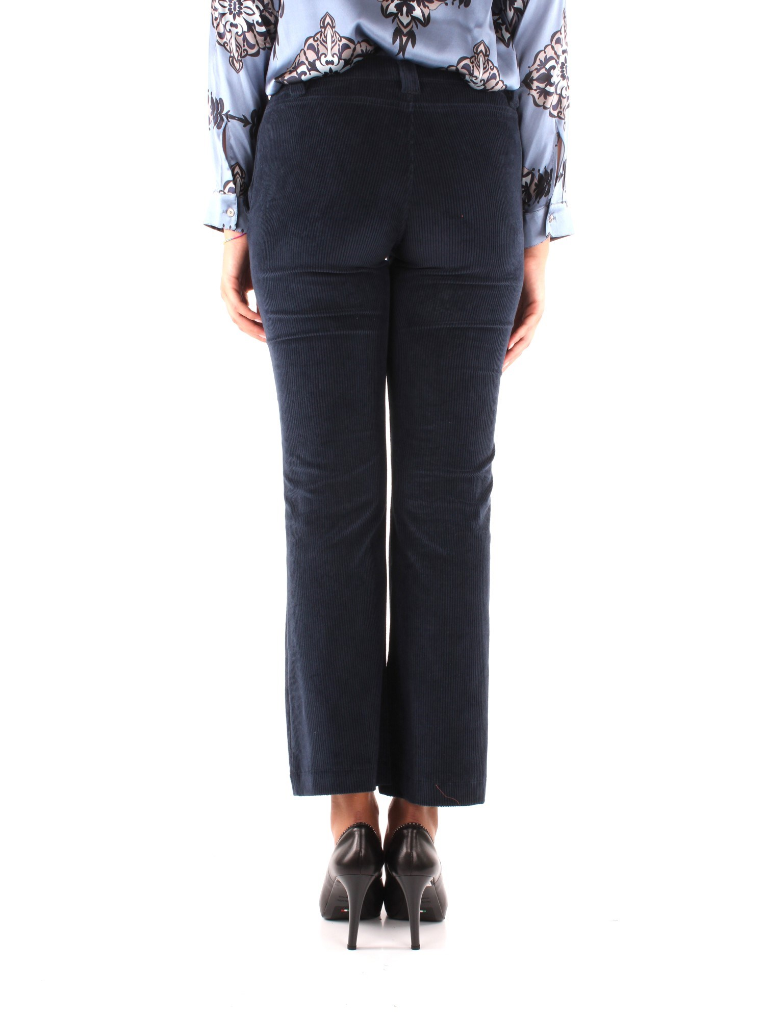 Niu' Clothing Woman Chino BLUE AW19204T0V