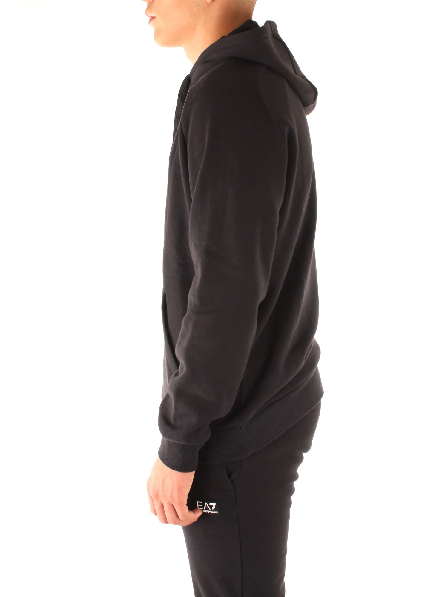 Ea7 Clothing Man Hooded BLACK 6GPM96