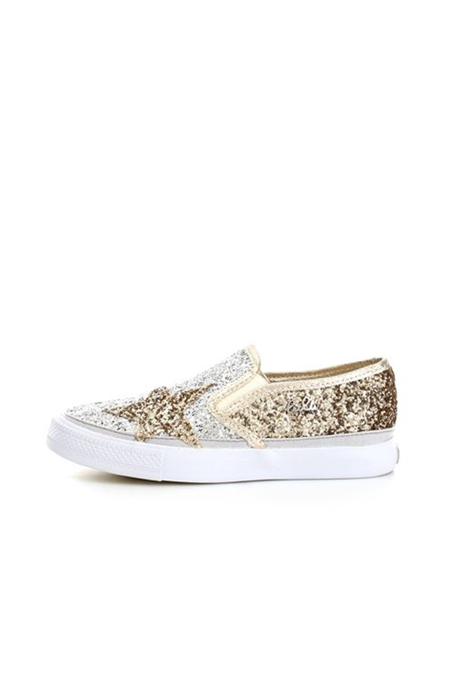 Lulu' Shoes Child Loafers GOLD NEWGLITTER