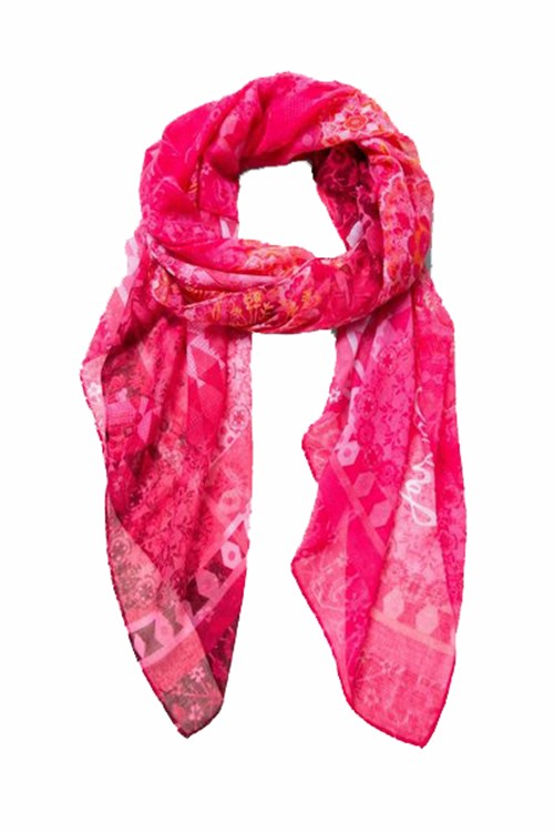 Desigual Scarves And Foulards FUCHSIA