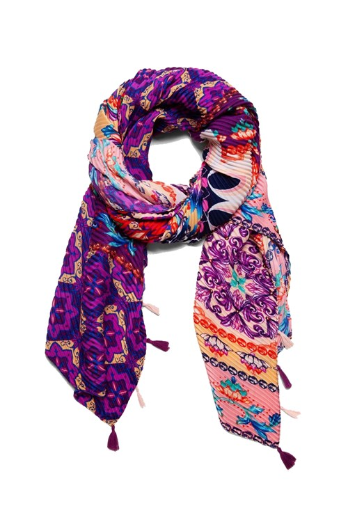 Desigual Scarves And Foulards LILAC