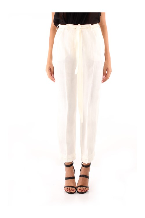 Weekend Maxmara Trousers WHITE