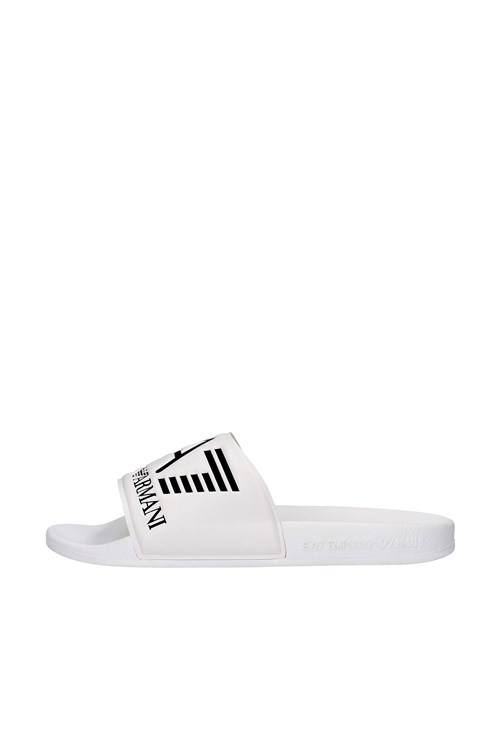 Ea7 slippers WHITE