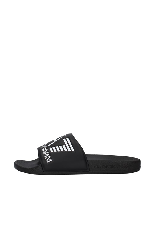 Ea7 slippers BLACK
