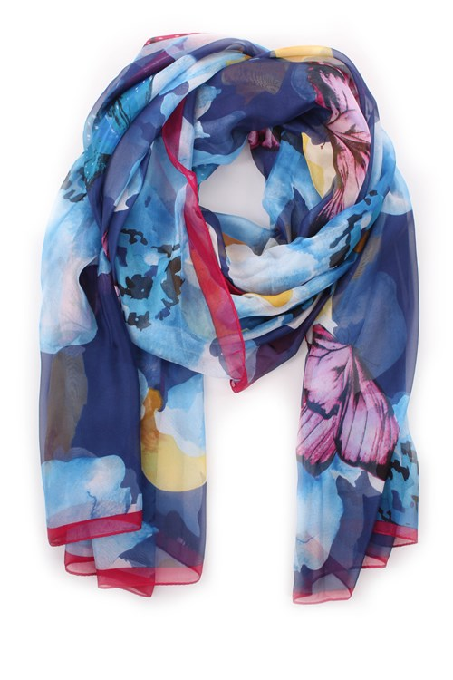Achigio' Scarves And Foulards LIGHT BLUE