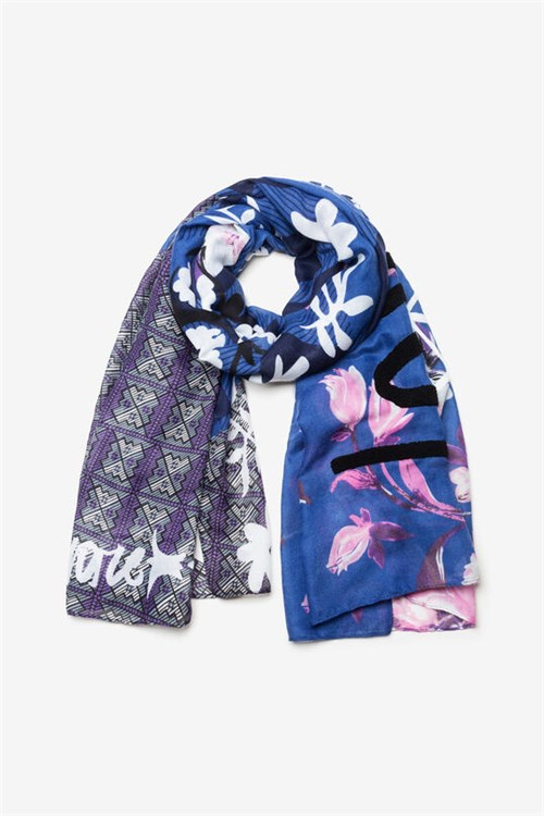 Desigual Scarves And Foulards NAVY BLUE