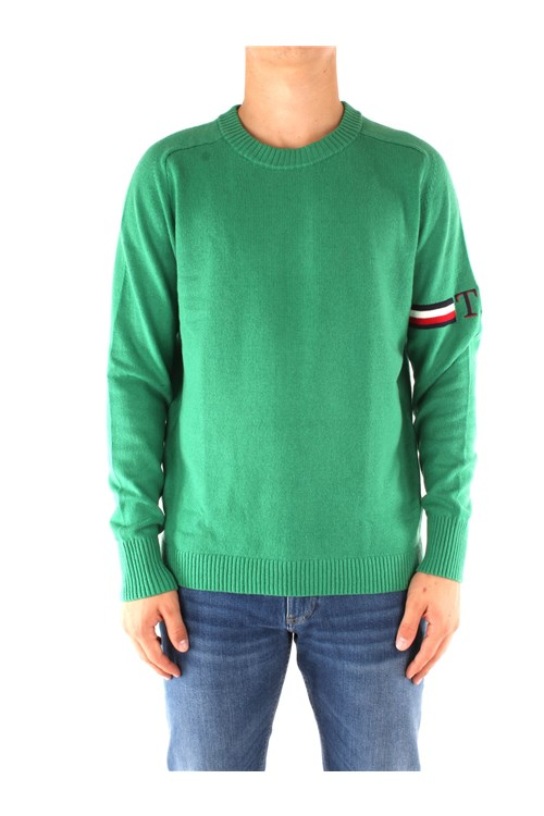 Tommy Hilfiger Crewneck Sweaters GREEN