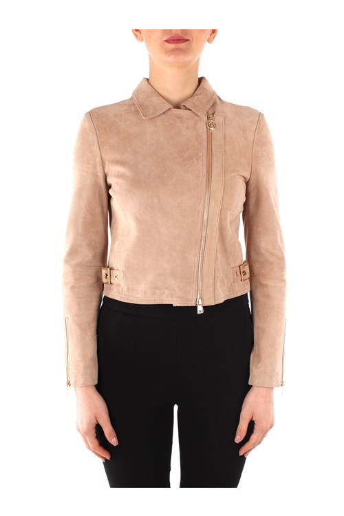 Liu Jo Leather jackets BEIGE