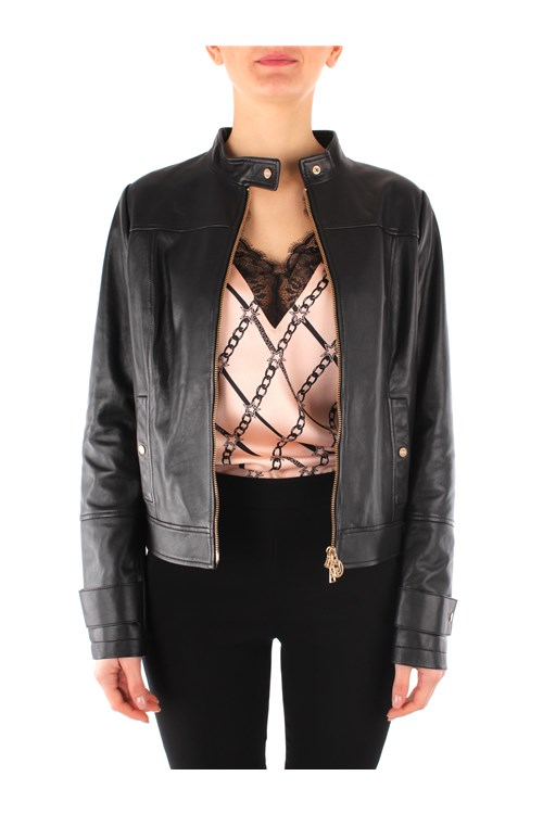 Liu Jo Leather jackets BLACK
