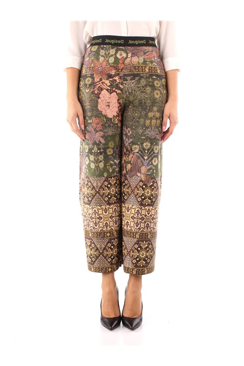 Desigual Trousers GREEN
