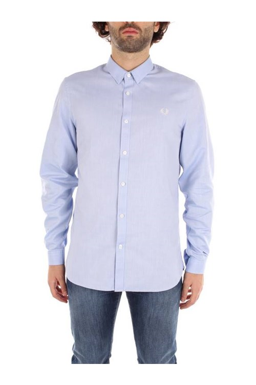 Fred Perry Shirts LIGHT BLUE