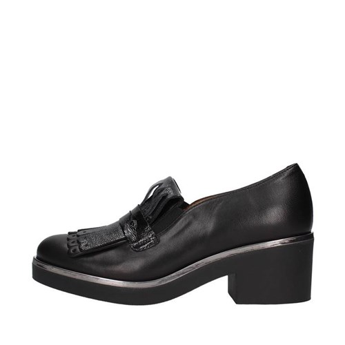 Mot-cle' Shoes Woman Loafers BLACK M559F