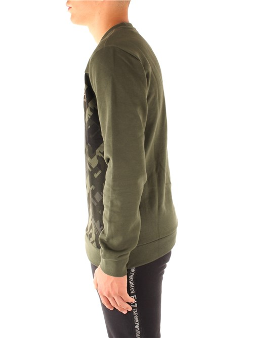 Ea7 Clothing Man Hooded GREEN 6GPM65