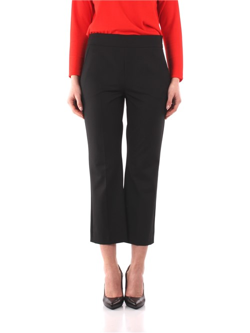 Marella Clothing Woman Cropped BLACK ROMA