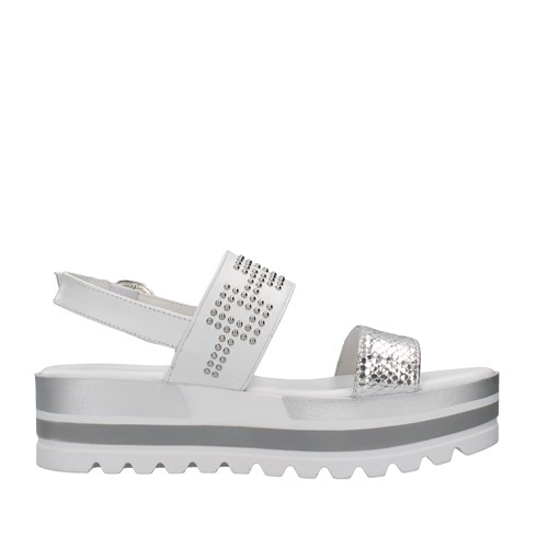Nero Giardini Shoes Woman With wedge SILVER E115750D