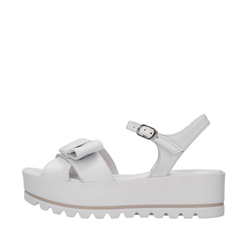 Nero Giardini Shoes Woman With wedge WHITE E115730D